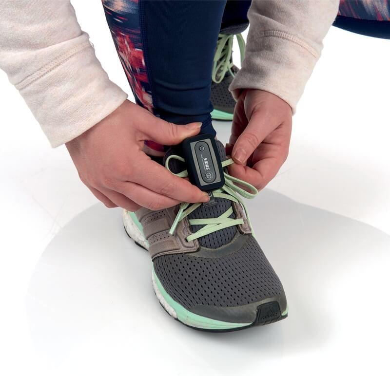 Czujnik kadencji i miernik zakresu pronacji SIDAS - zakładanie na but